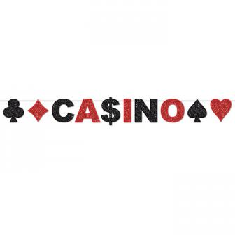 Glitzer-Girlande Casino 3,1 m