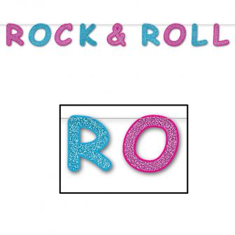 "Glitzer-Girlande ""ROCK & ROLL"" 2,4 m"