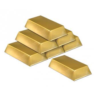 Goldbarren 6er Pack 19,5 cm