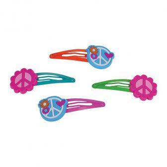 """Haarklammern """"Flower Power"""" 4er Pack"""