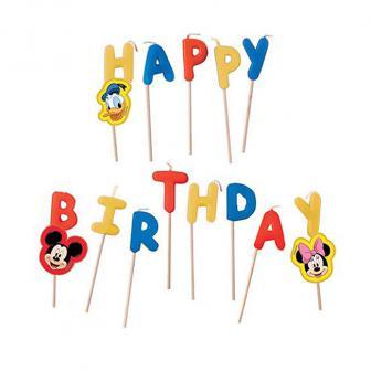 """Happy Birthday-Kerzen """"Minnie, Micky & Donald"""" 13-tlg."""