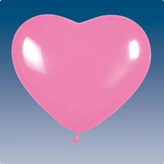 Herz-Luftballons rosa 5er Pack