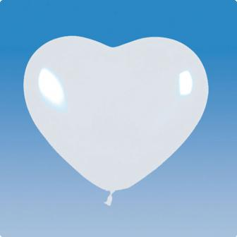 Herz-Luftballons weiß 5er Pack