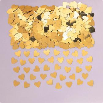 """Konfetti """"Einfarbige Herzchen"""" 15 g-gold"""