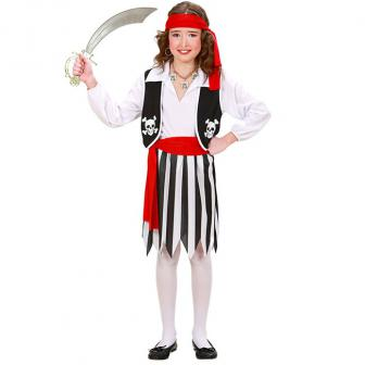 "Kinder-Kostüm ""Fesche Piratin"" 4-tlg."