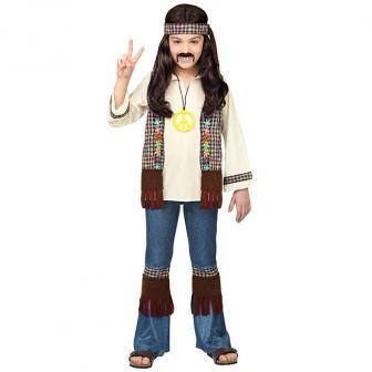 "Kinder-Kostüm ""Hippie-Kid"" 4-tlg."