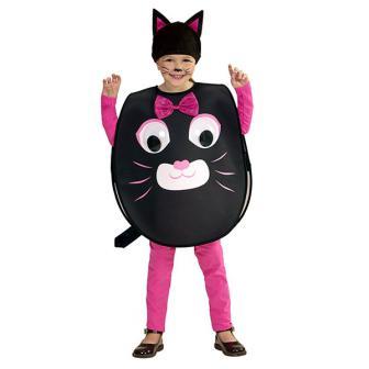 """Kinder-Kostüm """"Katze mit Wackelaugen"""" 2-tlg. - 2-4 Jahre"""