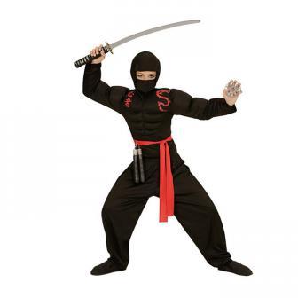 """Kinder-Kostüm """"Kleiner Ninja"""" 4-tlg."""