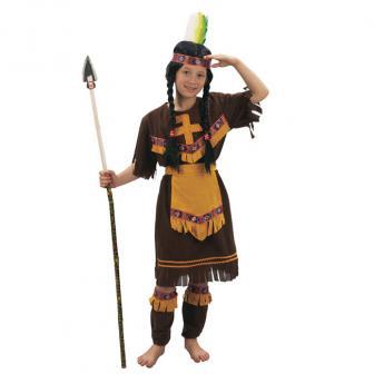 """Kinder-Kostüm """"Wilde Indianerin"""" 4-tlg."""