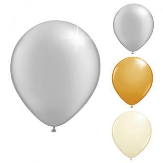 Kleine metallische Luftballons 20er Pack
