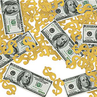 Konfetti Dollar & Dollarzeichen 14 g