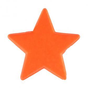 """Streuteile """"Einfarbige Sterne"""" 12er Pack-orange"""