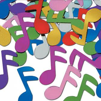 Konfetti Funky Musiknoten 28 g