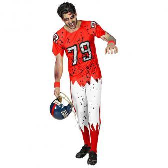 Kostüm American Football Zombie 2-tlg.