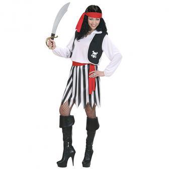 "Kostüm ""Furchtlose Piraten-Braut"" 4-tlg."