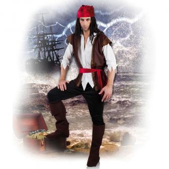 """Kostüm """"Furchtloser Pirat"""" 6-tlg."""