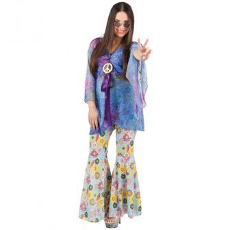 "Kostüm ""Groovy Hippie-Girl"" 3-tlg."