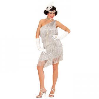 """Kostüm """"Roaring Twenties"""" silber 3-tlg."""