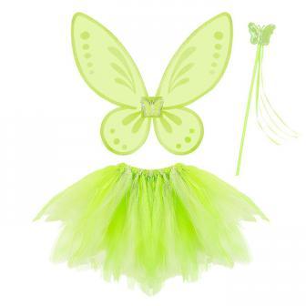 """Kostüm-Set """"Grüne Fee"""" für Kinder 3-tlg."""