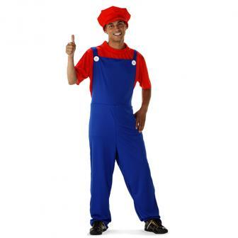 "Kostüm ""Klempner Mario"" 3-tlg."