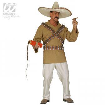 "Kostüm ""Mexikaner"" mit Patronengurt 3-tlg."