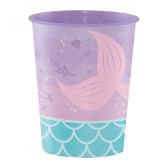 "Kunststoffbecher ""Mermaids have fun"" 473 ml"