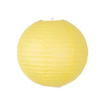 Großer einfarbiger Lampion-35-cm-gelb