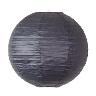 Großer einfarbiger Lampion-45 cm-schwarz