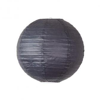 Großer einfarbiger Lampion-35-cm-schwarz
