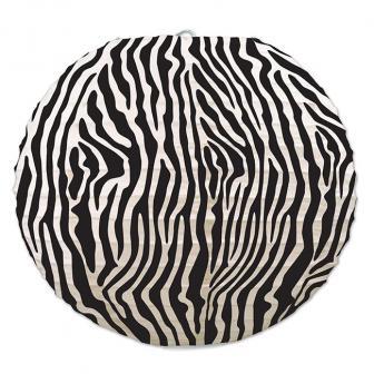 "Lampions ""Wilder Zebra-Look"" 24 cm 3er Pack"