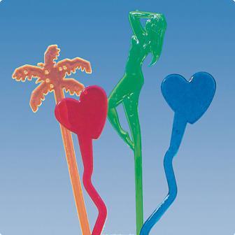 Longdrink-Sticks Summer Love 20 cm 50-tlg.