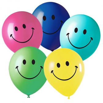 "Luftballons ""Smiley"" 5er Pack"