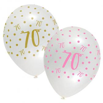 "Luftballons ""70. Geburtstag Ladylike"" 6er Pack"