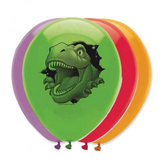 """Luftballons """"Gefährliche Dinosaurier"""" 6er Pack"""