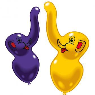 Luftballons in Elefantenform 2er Pack