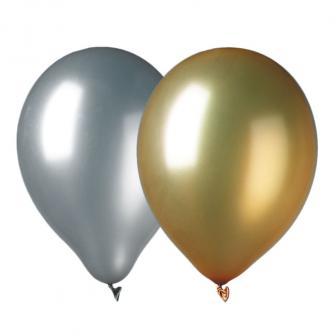 Luftballons Metallic 9er Pack