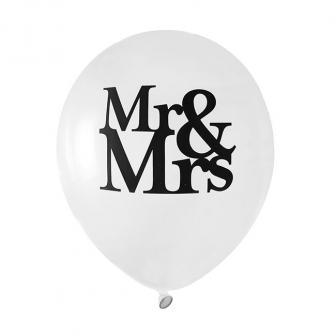 """Luftballons """"Mr & Mrs"""" 8er Pack"""