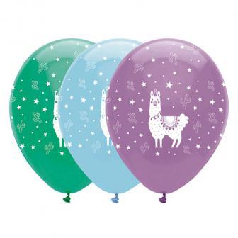 """Luftballons """"No Drama Lama"""" 6er Pack"""