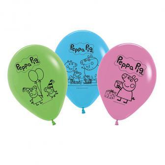 Luftballons Peppa Wutz 5er Pack