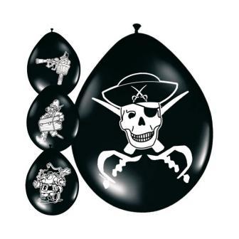 """Luftballons """"Piratenschätze"""" 8er Pack"""