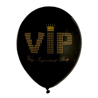 """Luftballons """"VIP - Very Important Party"""" 8er Pack"""