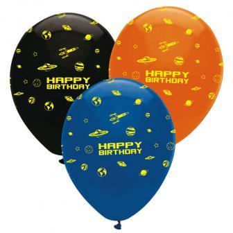 """Luftballons """"Weltraumparty"""" 6er Pack"""