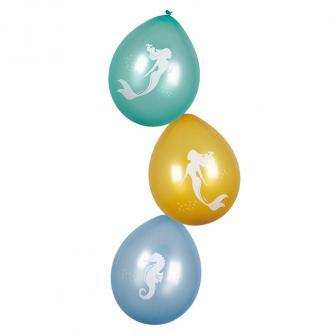 """Luftballons """"Wunderschöne Meerjungfrau"""" 6er Pack"""