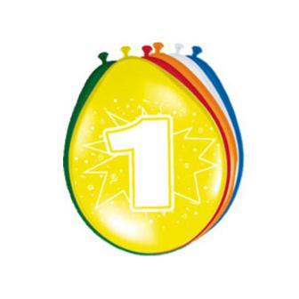 Bunte Luftballons mit Zahlen 8er Pack-1