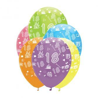 "Luftballons ""Bunte Geburtstagsparty"" 6er Pack-18"