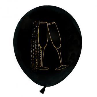"""Luftballons """"Edle Silvesternacht"""" 8er Pack"""