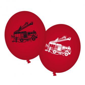 """Luftballons """"Spannende Feuerwehr"""" 8er Pack"""