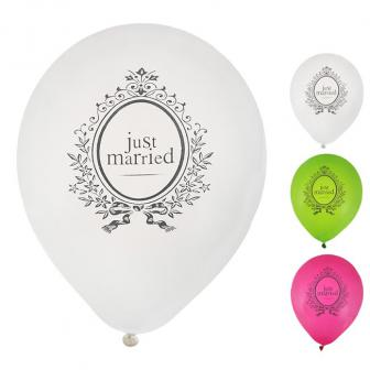 "Luftballons ""Just Married"" 8er Pack"