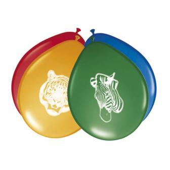 """Luftballons """"Wildes Safarileben"""" 8er Pack"""