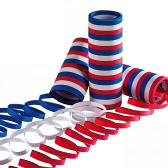 Luftschlangen blau-weiß-rot 3er Pack